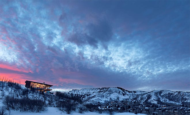 Luxury Cliffside Retreat in Landscapes of Snowmass Mountain